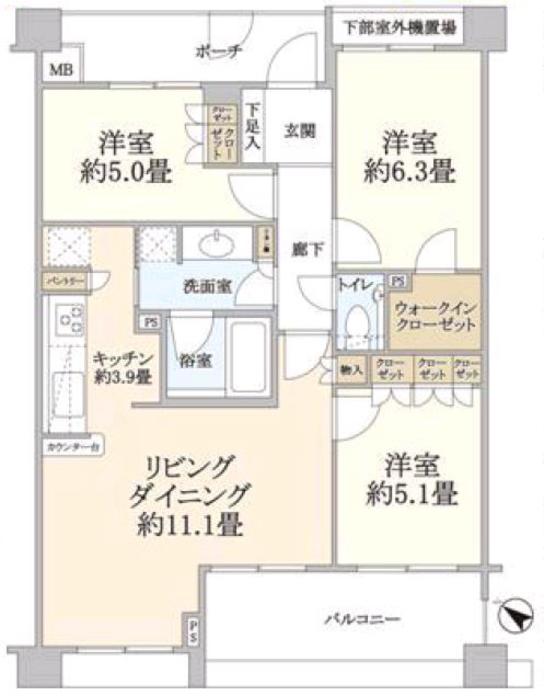 グローリオ成増赤塚公園4階 間取図