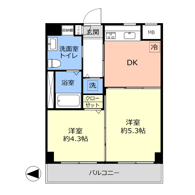 常盤台宝マンション4階 間取図