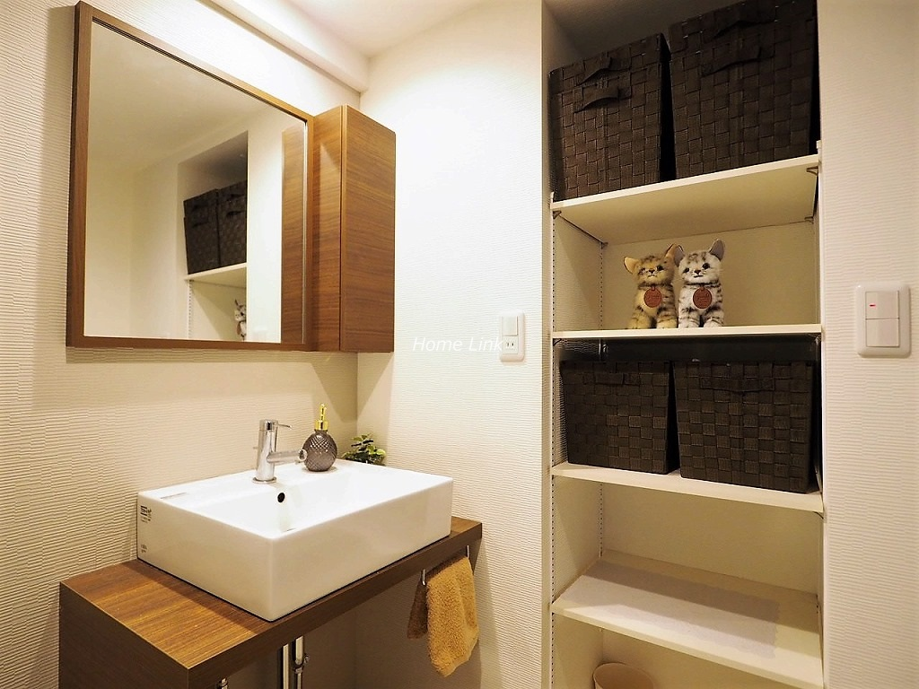 常盤台宝マンション4階 カウンター式洗面台