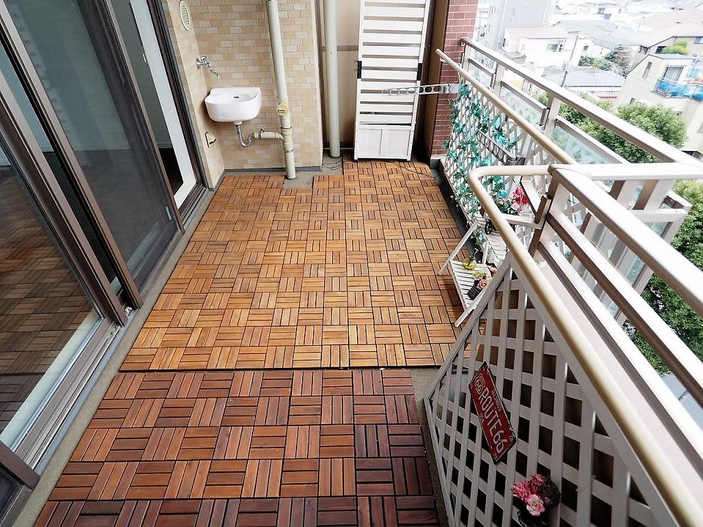 常盤台ガーデンソサエティ 6階 奥行約2.4Mのワイドバルコニー