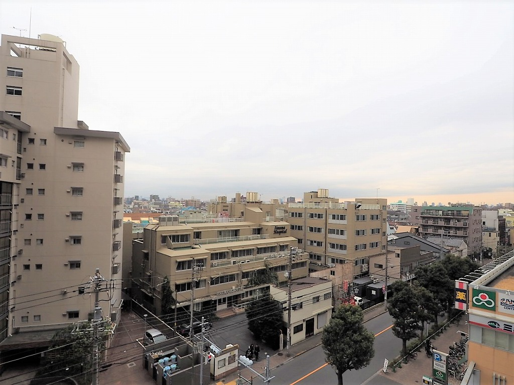 常盤台ガーデンソサエティ 6階 バルコニーからの眺望