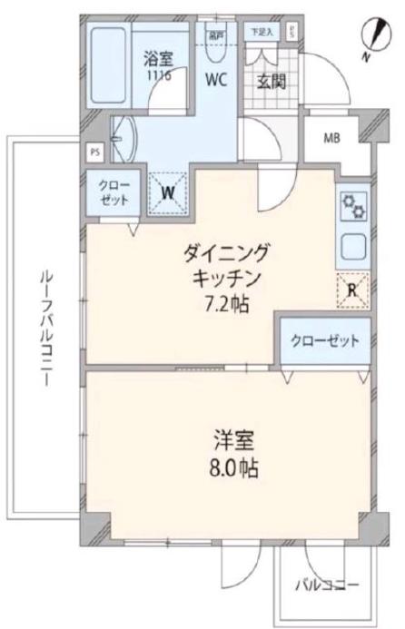 アルテシモ志村坂上5階 間取図