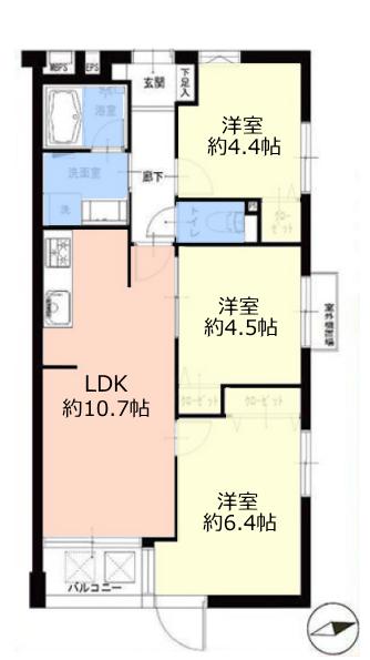 サラータ赤塚2階 間取図