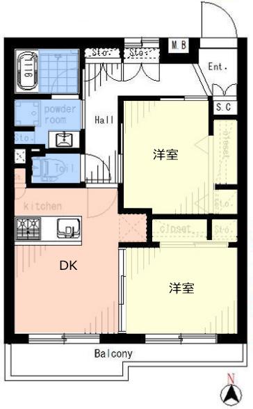 サンライフ西台2階 間取図