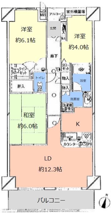 サンライン板橋本町12階 間取図