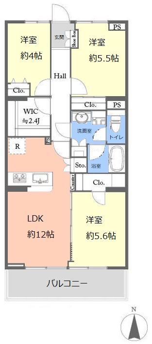 志村ハイデンス4階 間取図