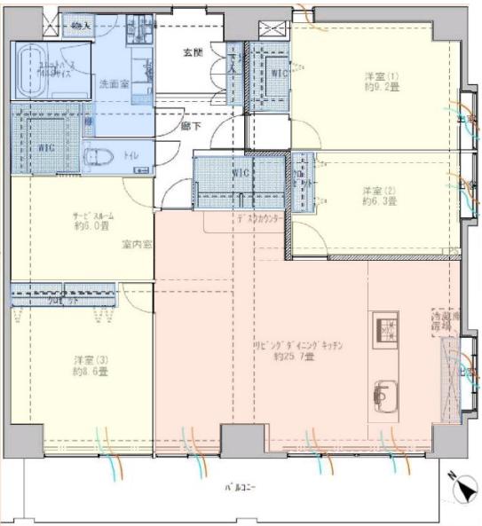 ライオンズマンション板橋6階 間取図