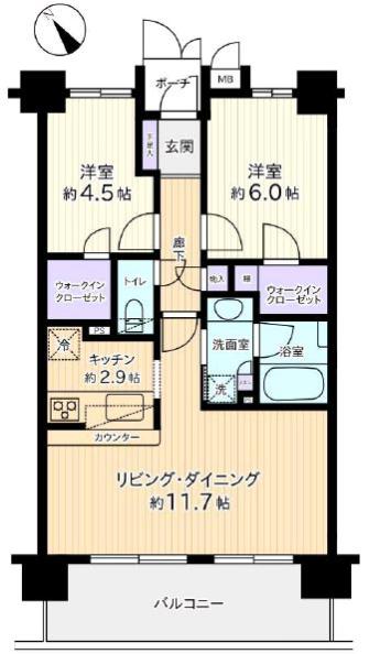 キャッスルマンション蓮根9階 間取図