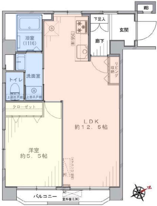 桂ハイツ2階 間取図