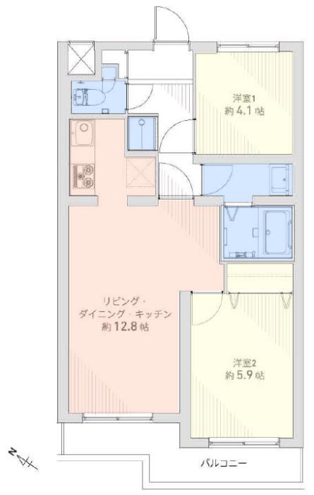 セザール第2赤塚公園2階 間取図