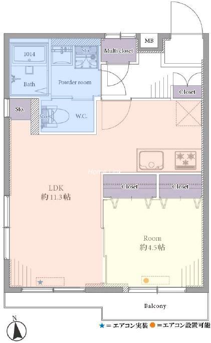 サンライフ西台3階 間取図