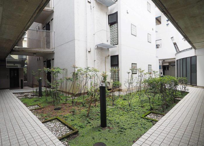 サラータ赤塚 共用部中庭
