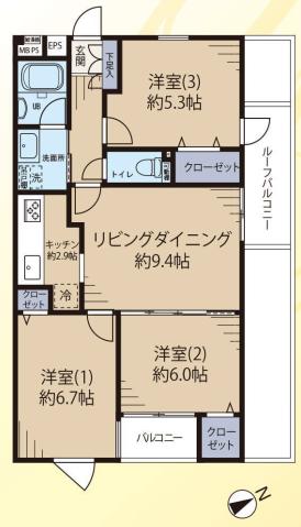 サラータ赤塚4階 間取図