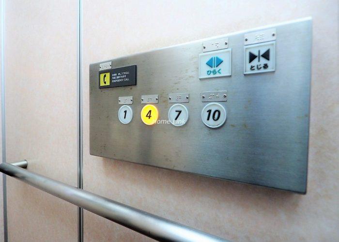 光が丘パークタウンゆりの木通り北住宅10号棟 エレベーター停止階