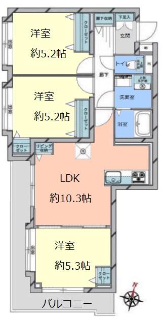 キャニオンマンション常盤台2階 間取図