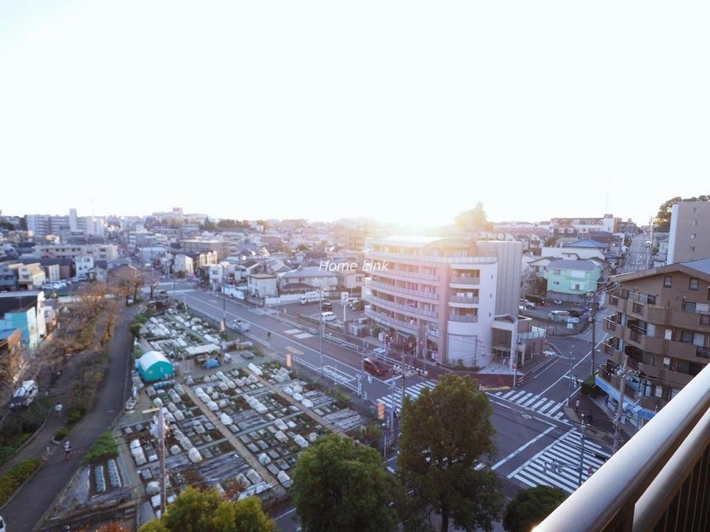 コアシティ西台8階 遮る物がない8階からの眺望