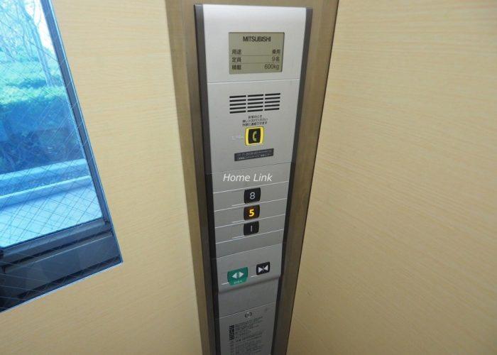 コートハウス城北中央公園 エレベーター停止階