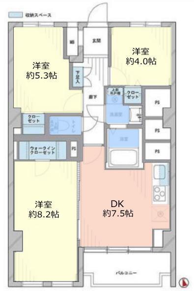 サンハイム徳丸9階 間取図