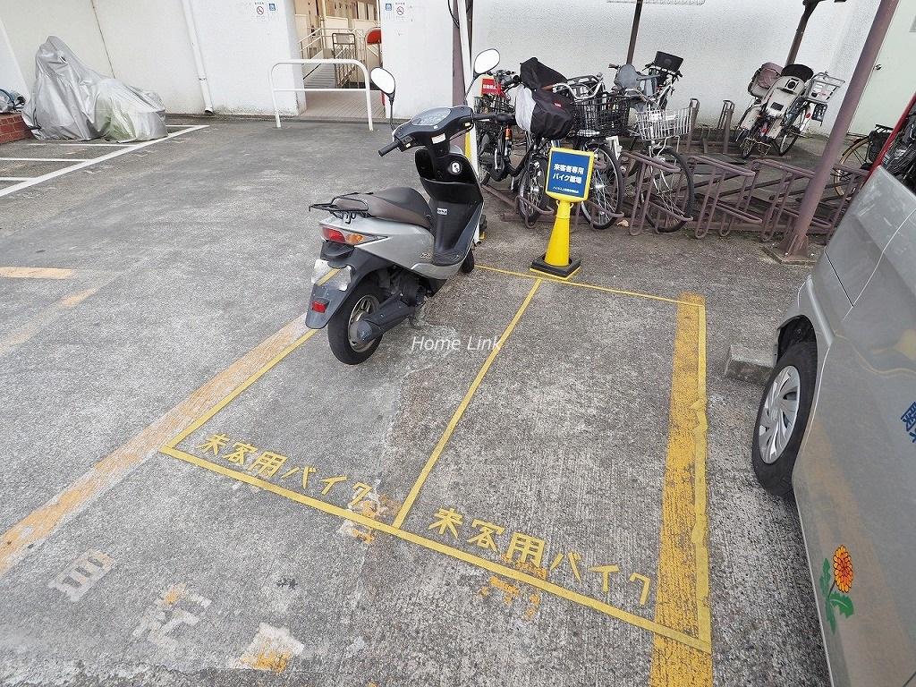 ハイネス上板橋 来客用バイク置き場