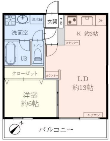 タック中台7階 間取図