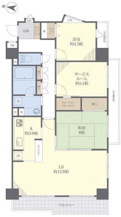 コスモ板橋本町シティフォルム6階 間取図
