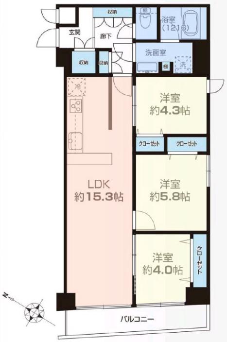 ニューライフ志村坂上11階 間取図