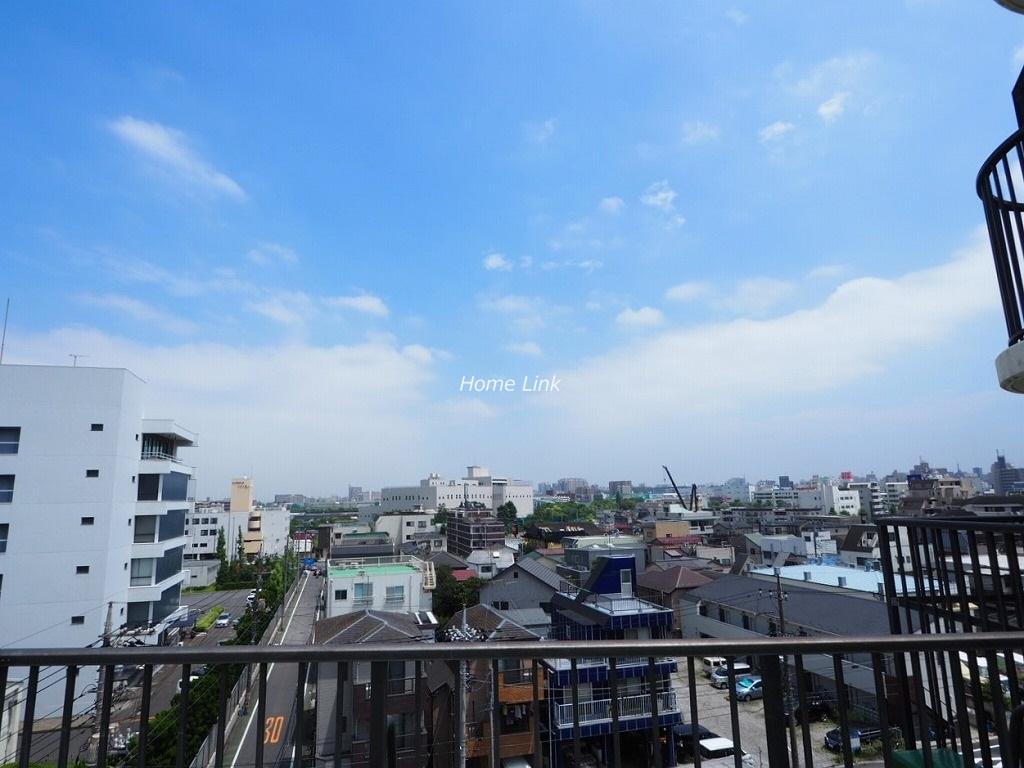 蓮根サンハイツ6階 ルーフバルコニーからの眺望