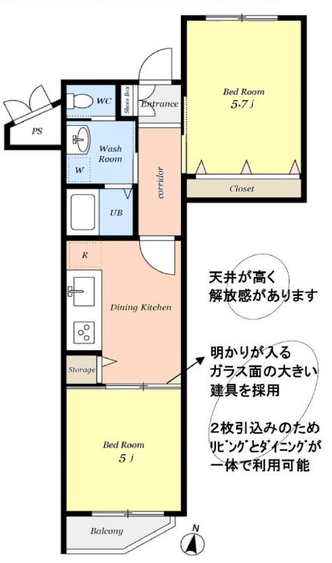 GSハイムときわ台2階 間取図