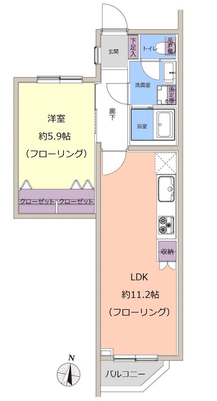 GSハイムときわ台4階 間取図