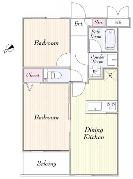 エスポワール常盤台1階 間取図