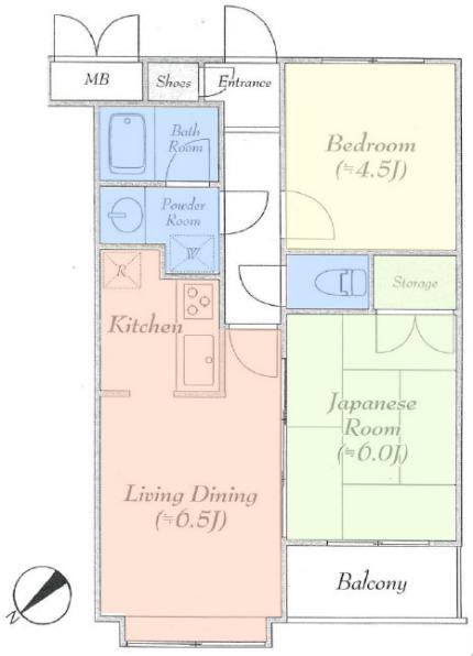 エスポワール常盤台5階 間取図
