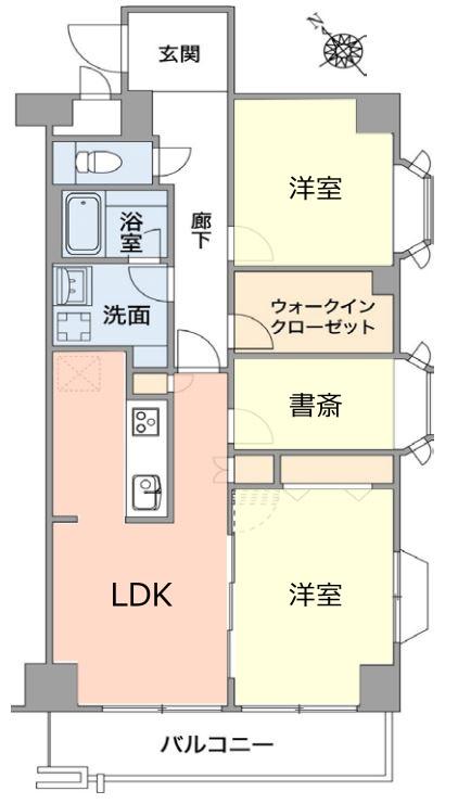 ライオンズマンション成増2階 間取図