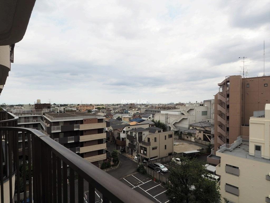 ライオンズマンション赤塚6階 バルコニーからの開けた眺望