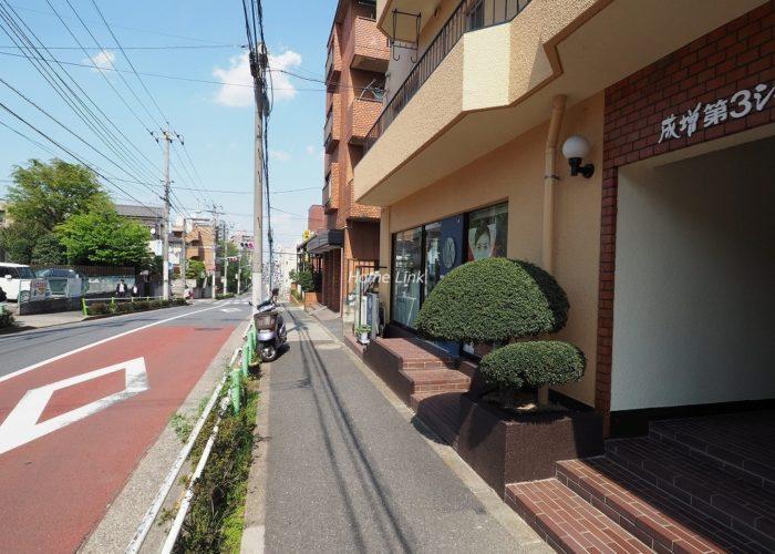 成増第3シャトレ 前面道路歩道