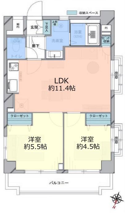 板橋本町アーバンライフ3階 間取図