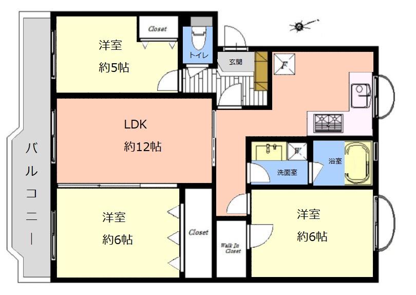 東武高島平サンライトマンション2階 間取図