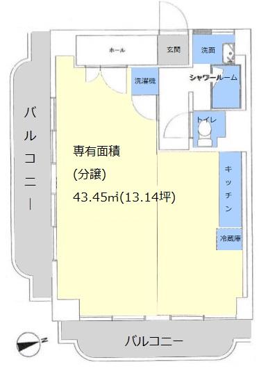 ライオンズマンション赤塚10階 間取図