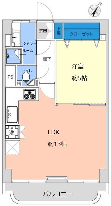 ライオンズマンション赤塚6階 間取図