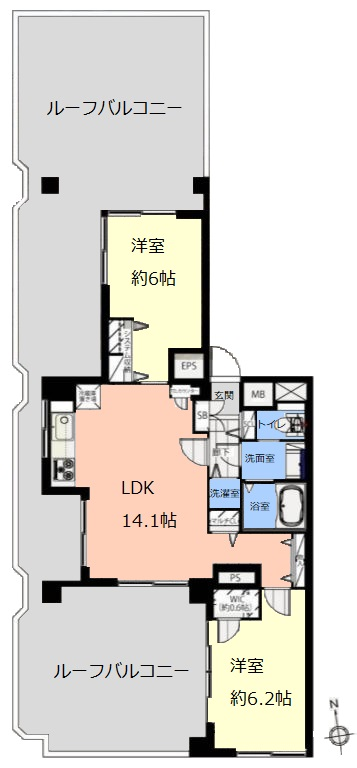 成増第3シャトレ4階 間取図