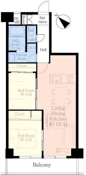ライオンズマンション成増3階 間取図