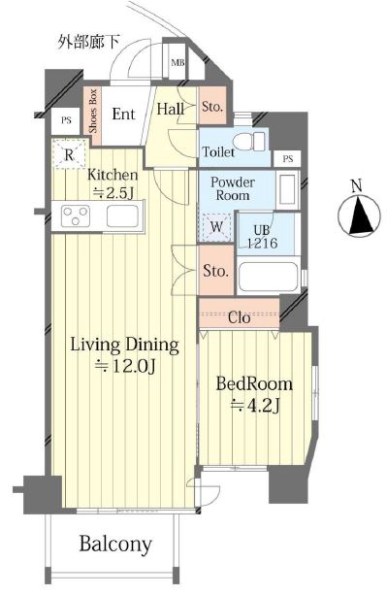 ラグラース板橋区役所前4階 間取図