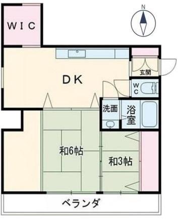 東武サンライズマンション4階 間取図