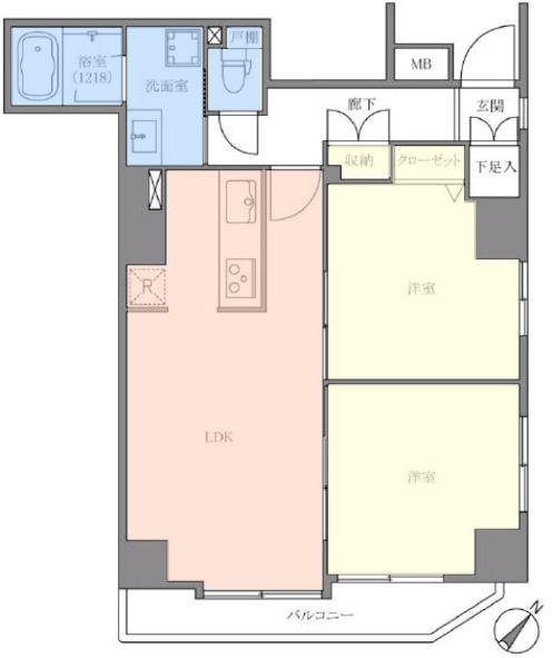 アイディコート池袋西スターファーロ10階 間取図