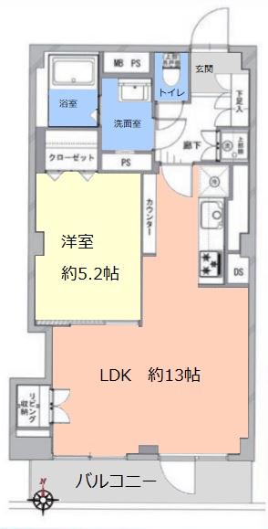 ライオンズマンション大山5階 間取図