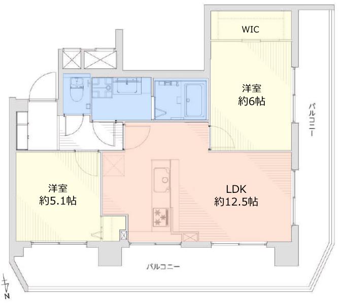 シンハイム高島平9階 間取図