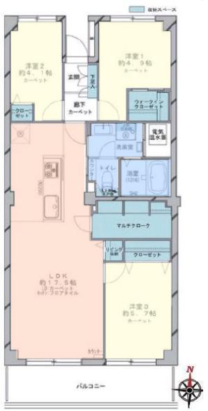 小豆沢パークファミリアA棟 間取図