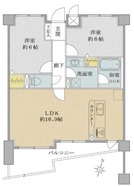 コニファーコート志村弐番館2階 間取図