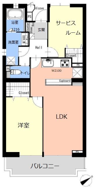 パルシティ徳丸4階 間取図