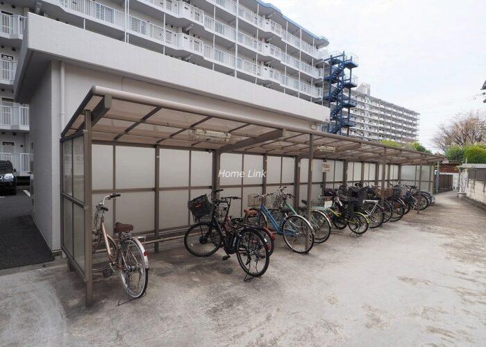 志村スカイハイツ 駐輪場