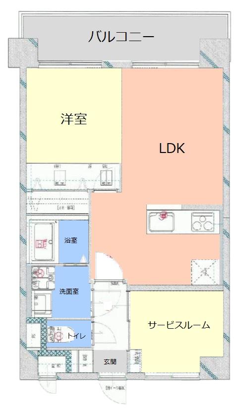 ダイアパレス西台8階 間取図